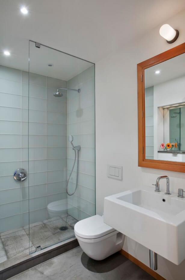Ideias para Decoração de Banheiro Pequeno  Arquidicas -> Banheiro Pequeno Com Pastilhas Claras