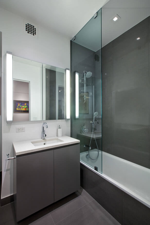 banheiro pequeno decorado com porcelanato