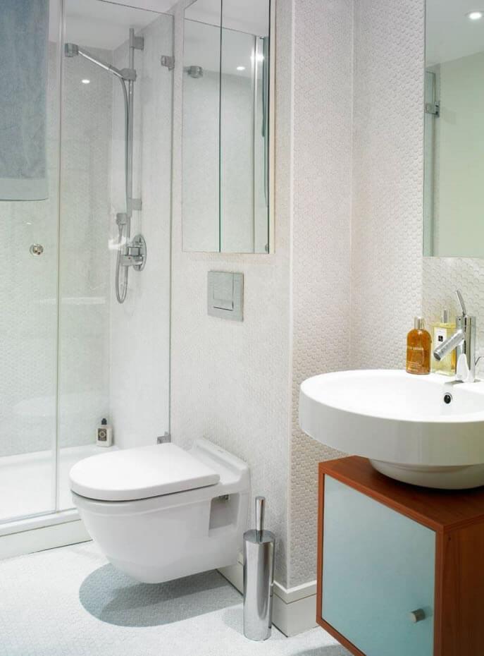 Ideias para Decoração de Banheiro Pequeno  Arquidicas -> Banheiros Decorados Com Pastilhas Amarelas