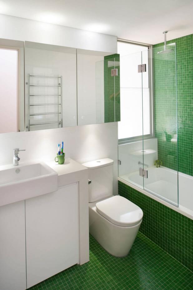 Ideias para Decoração de Banheiro Pequeno  Arquidicas -> Decoracao De Ceramica Para Banheiro Pequeno