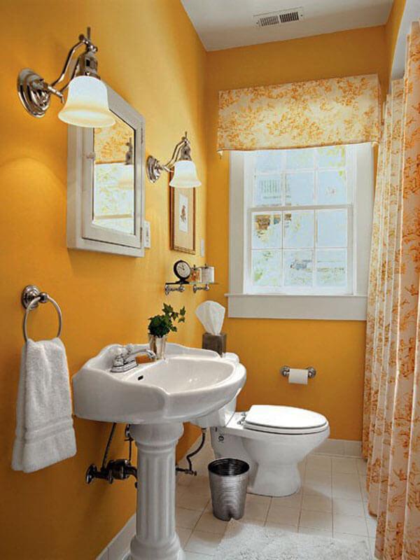 decoração de banheiro pequeno clássico