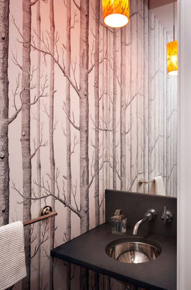 decoração de banheiro pequeno com adesivo
