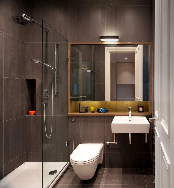 decoração de banheiro pequeno com chuveiro