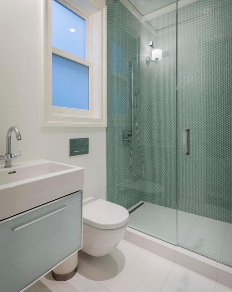 Ideias para Decoração de Banheiro Pequeno  Arquidicas -> Fotos De Decoracao De Banheiro Pequeno Com Pastilhas