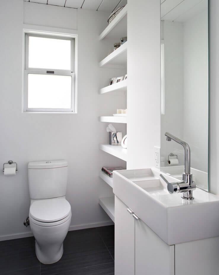 Ideias para Decoração de Banheiro Pequeno  Arquidicas -> Banheiro Apartamento Decorado Adesivo