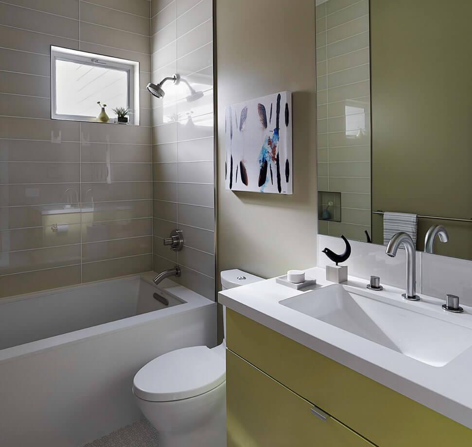 decoração de banheiro pequeno e moderno