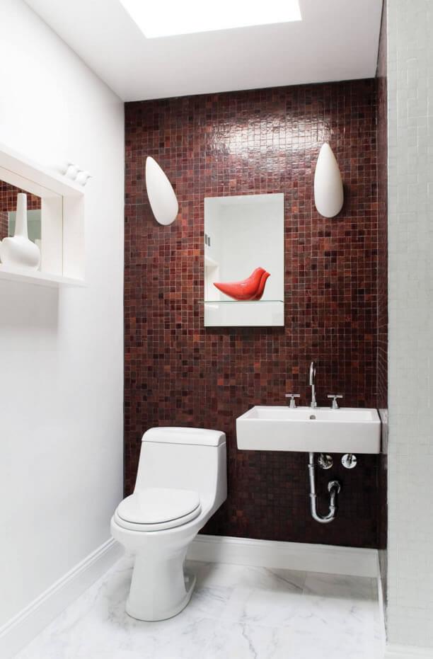 Ideias para Decoraç u00e3o de Banheiro Pequeno Arquidicas -> Decoração De Banheiro Simples E Pequeno
