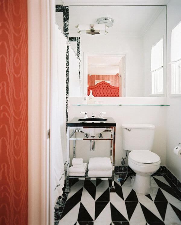 decoração de banheiro pequeno moderno
