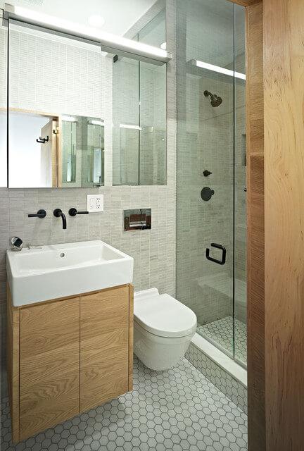 decoração de banheiros pequenos simples