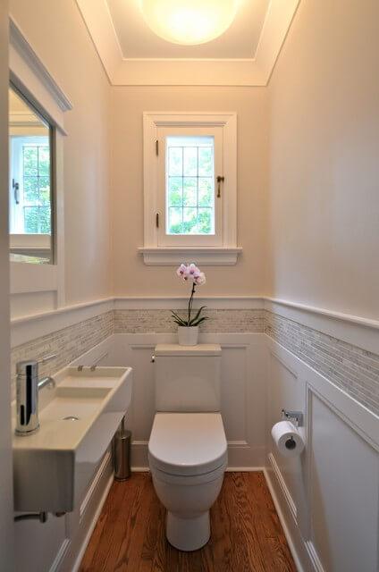 decoração de lavabo estreito
