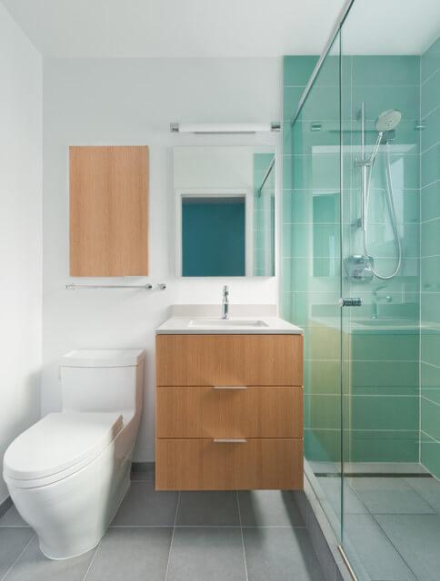 Ideias para Decoração de Banheiro Pequeno  Arquidicas -> Banheiros Pequenos Simples E Decorados