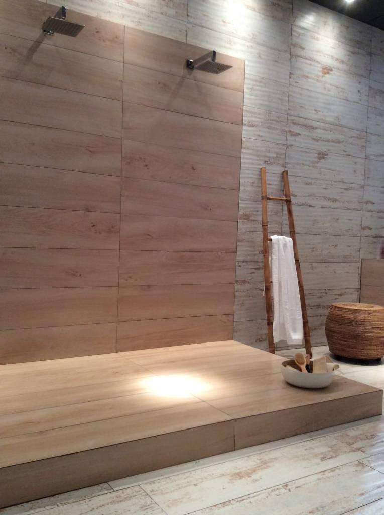 madeira ou porcelanato