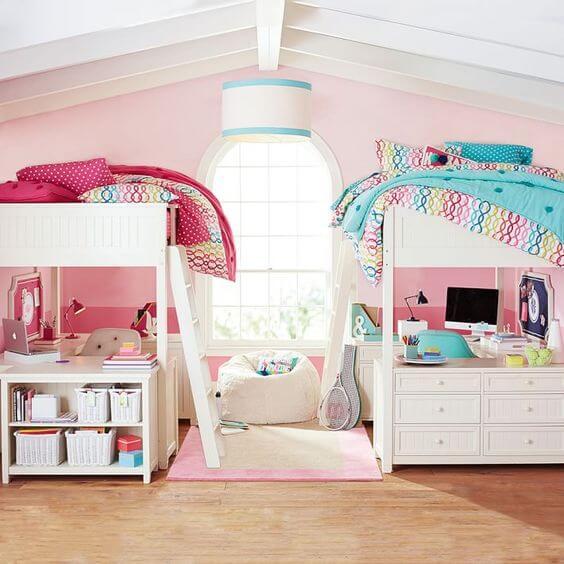 Boy And Girl Sharing A Bedroom Ideas For Decorating: 17 Quartos Compartilhados Para Meninas