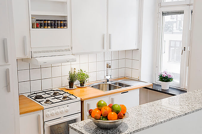 7 dicas para ter uma cozinha americana simples e econ mica for Apartaestudios pequenos
