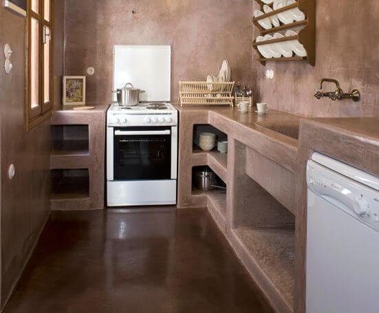 7 dicas para ter uma cozinha americana simples e econ mica - Como hacer un piso de hormigon lustrado ...