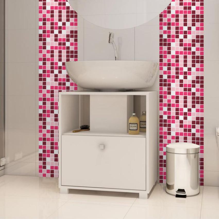 Piso de Porcelanato Líquido O que é, como faz, fotos e modelos!  Arquidicas # Banheiro Pequeno Com Pastilhas Adesivas