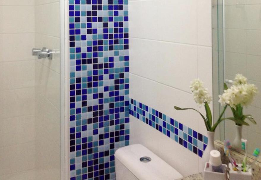 Pastilhas Adesivas para Banheiro Você Precisa Saber!  Arquidicas -> Banheiro Com Pastilha Resinada Adesiva