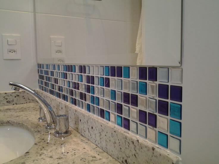 Pastilhas Adesivas para Banheiro Você Precisa Saber!  Arquidicas -> Banheiro Pequeno Com Pastilhas Adesivas