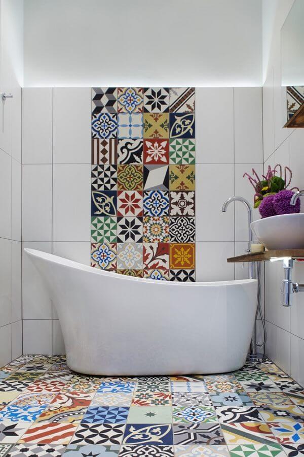 banheiros modernos ladrilho hidraulico
