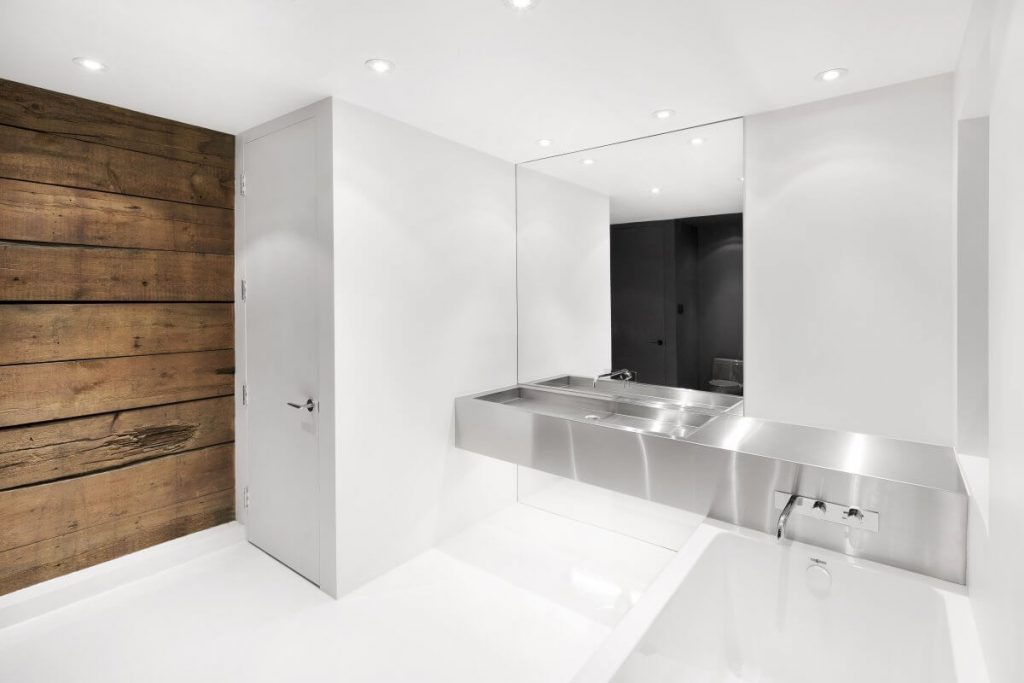 piso de banheiro moderno