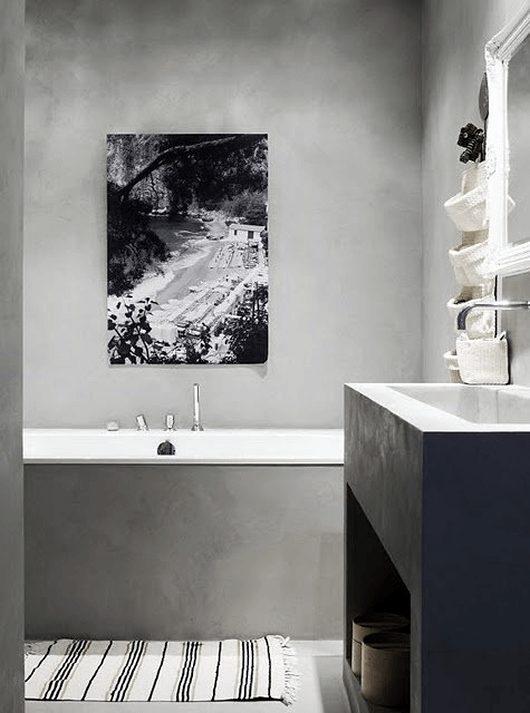 banheiro moderno de concreto