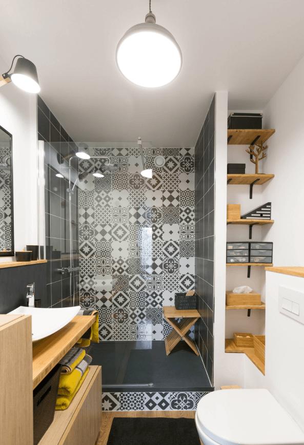 banheiro moderno ladrilho
