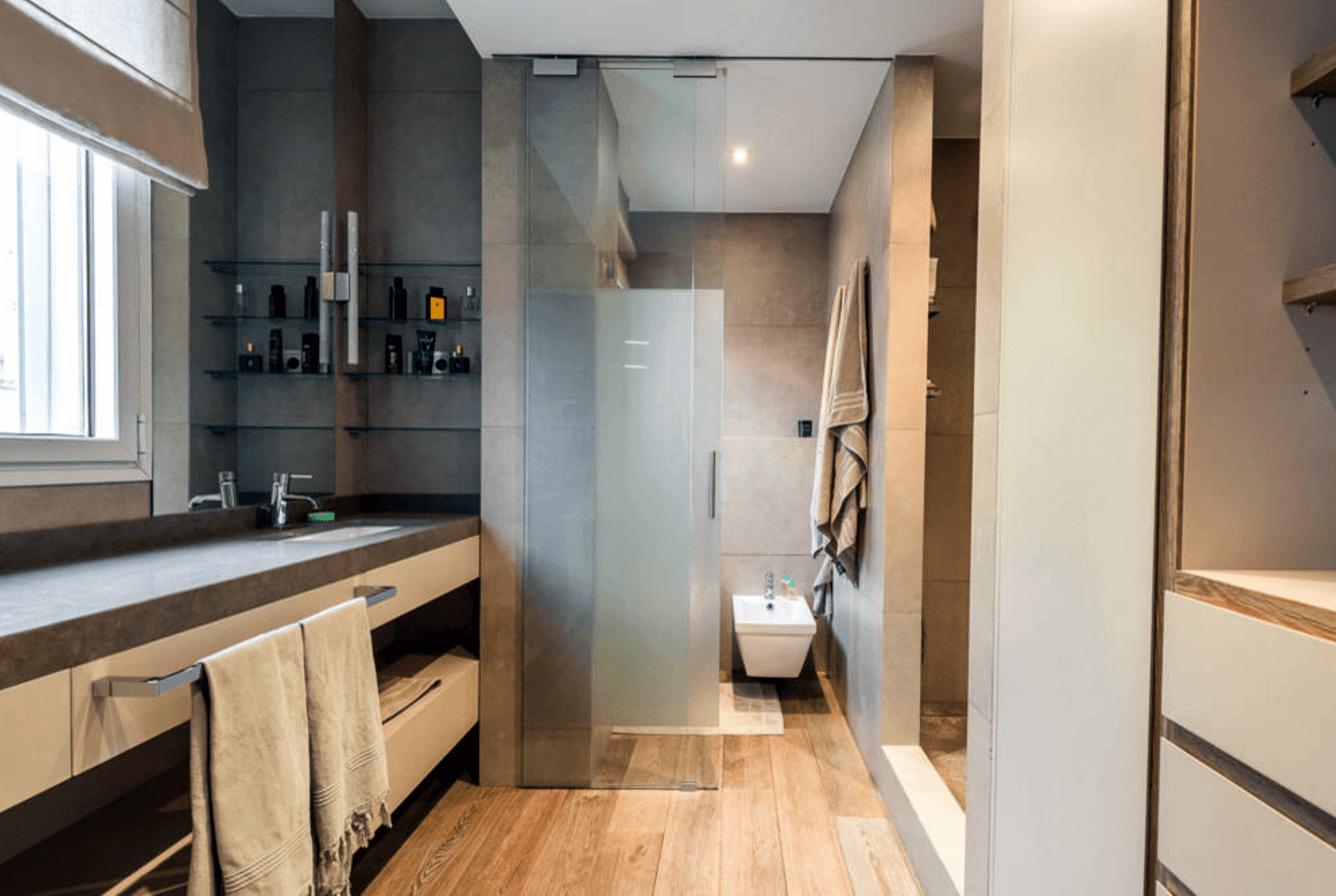 Banheiros Modernos Medios  homefiresafetykitcom banheiros com pastilhas -> Banheiros Modernos Medios