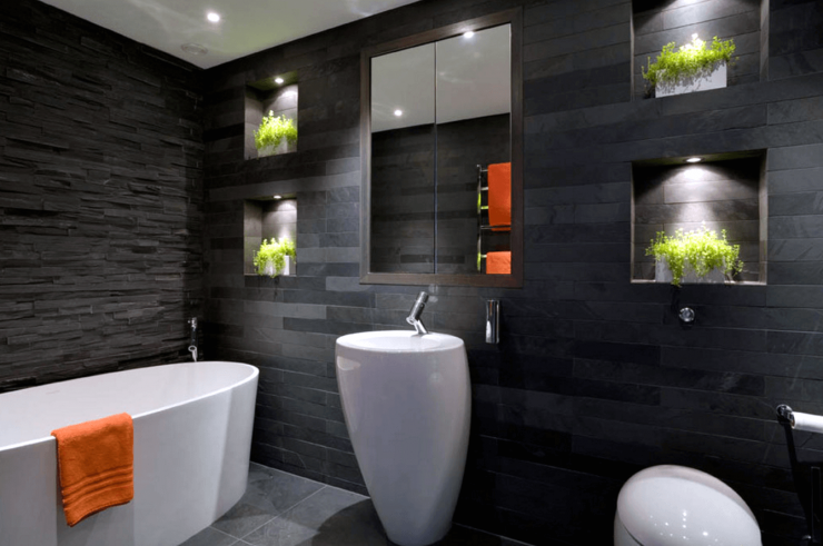 pias de banheiros modernos