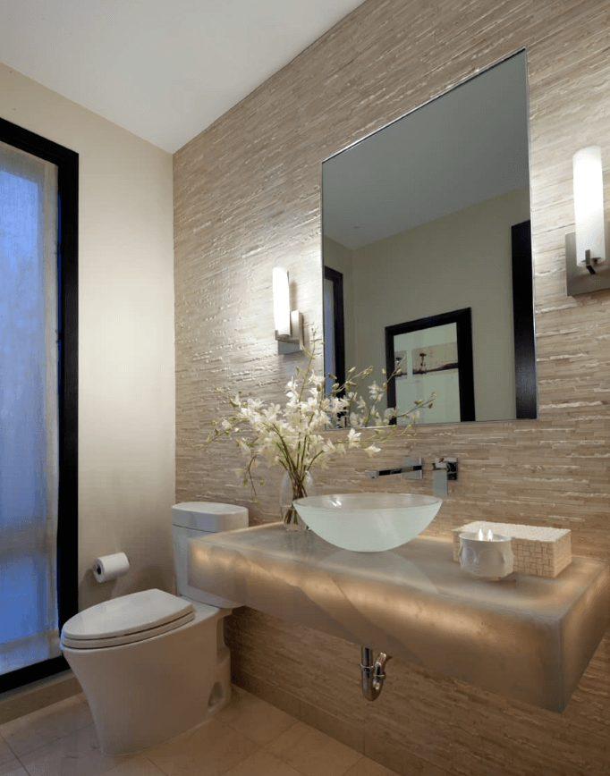 balcão de banheiros modernos