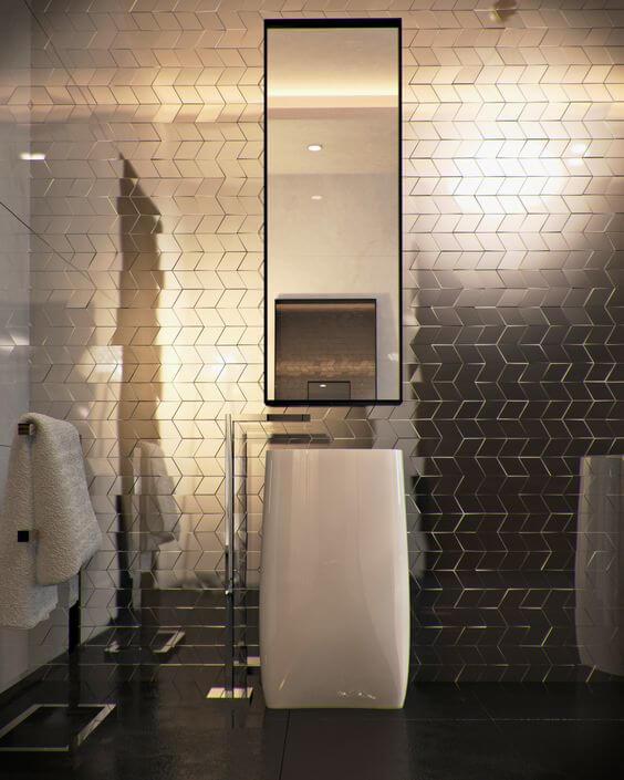 fotos de banheiros modernos 2017