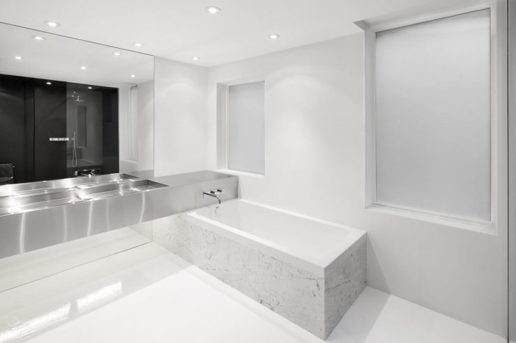 banheiro piso porcelanato líquido
