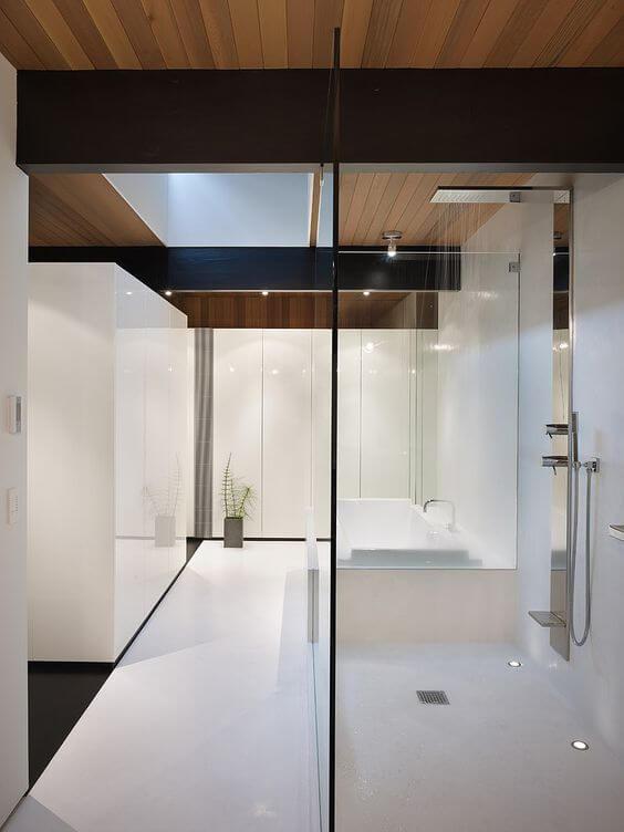 interior de banheiros modernos
