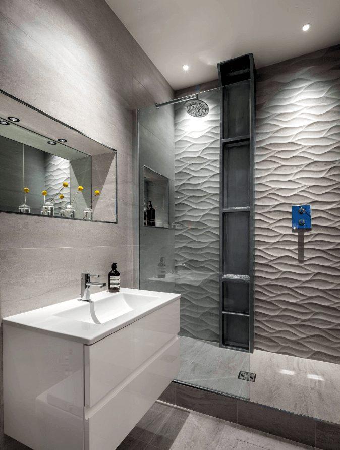banheiros modernos com nichos