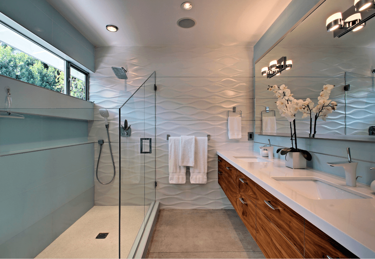 para banheiros modernos para que você tenha um banheiro lindo #6E3E22 1300x900 Bancadas Banheiros Modernos