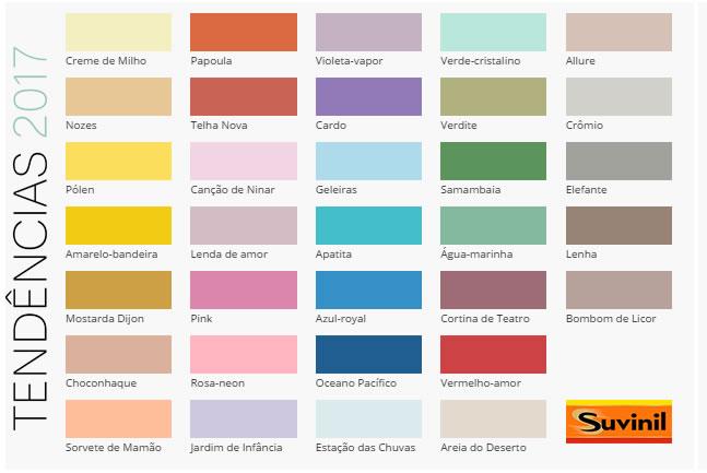 cores de paredes suvinil 2017