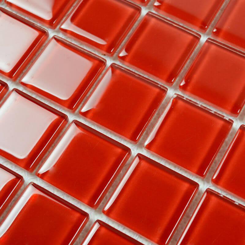 pastilha vermelha de vidro