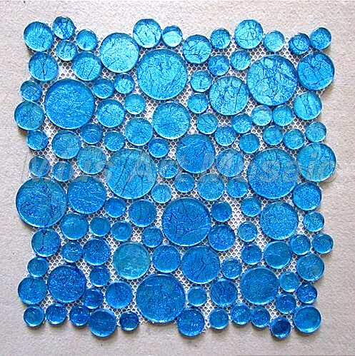 pastilhas de vidro redondas