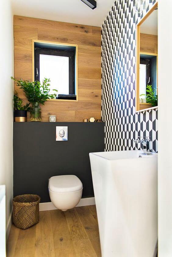 banheiro pequeno contemporâneo
