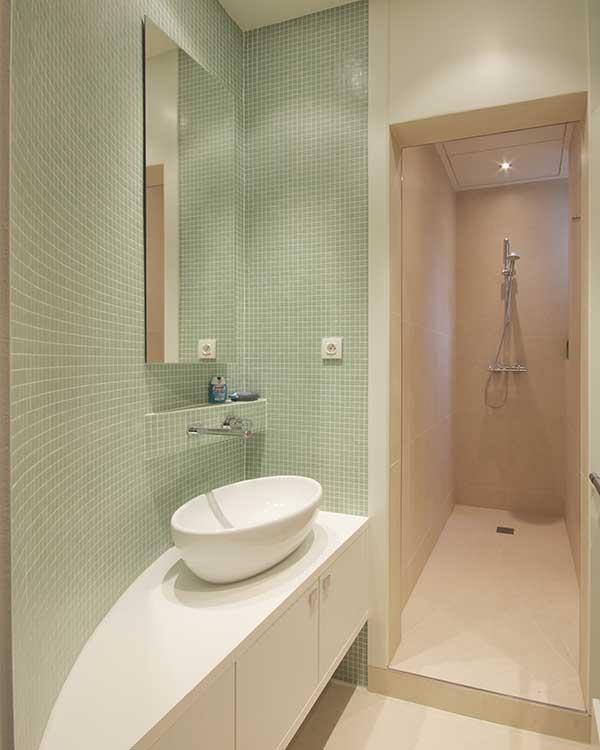 banheiros estreitos planejados