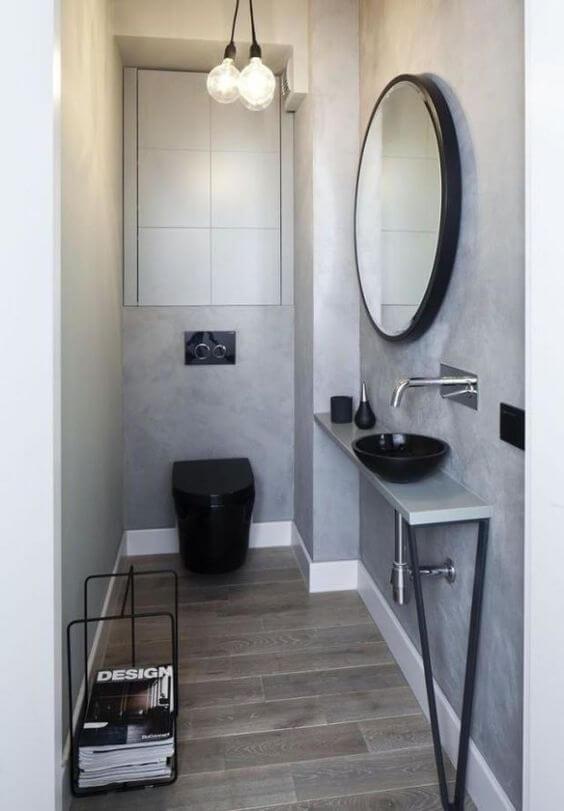 lavabos estreitos planejados