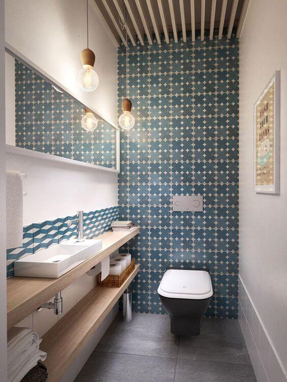 banheiro planejado e decorado