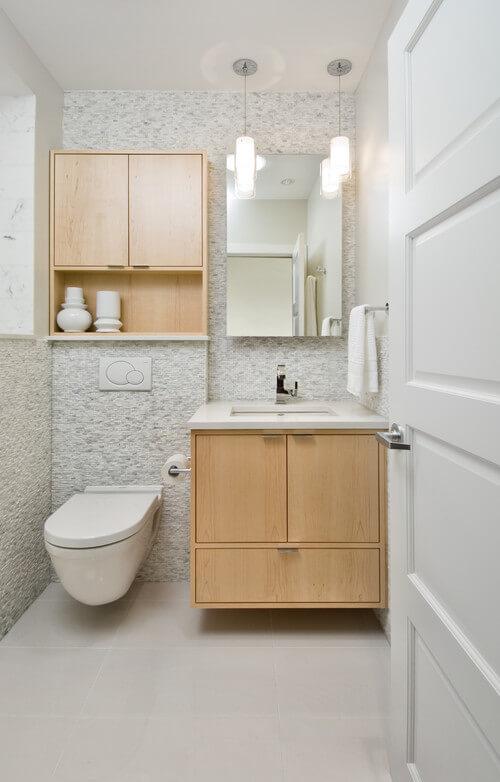 banheiro com caixa acoplada embutida