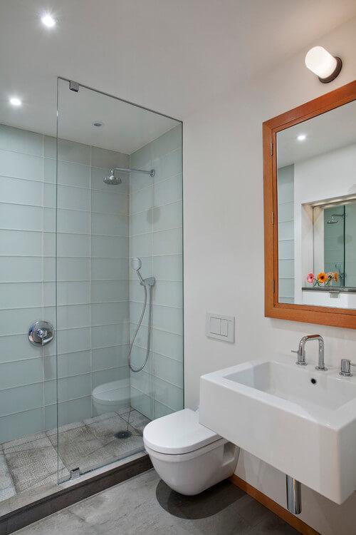 Banheiro simples planejado
