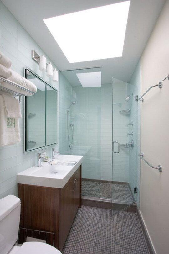 banheiro planejado estreito