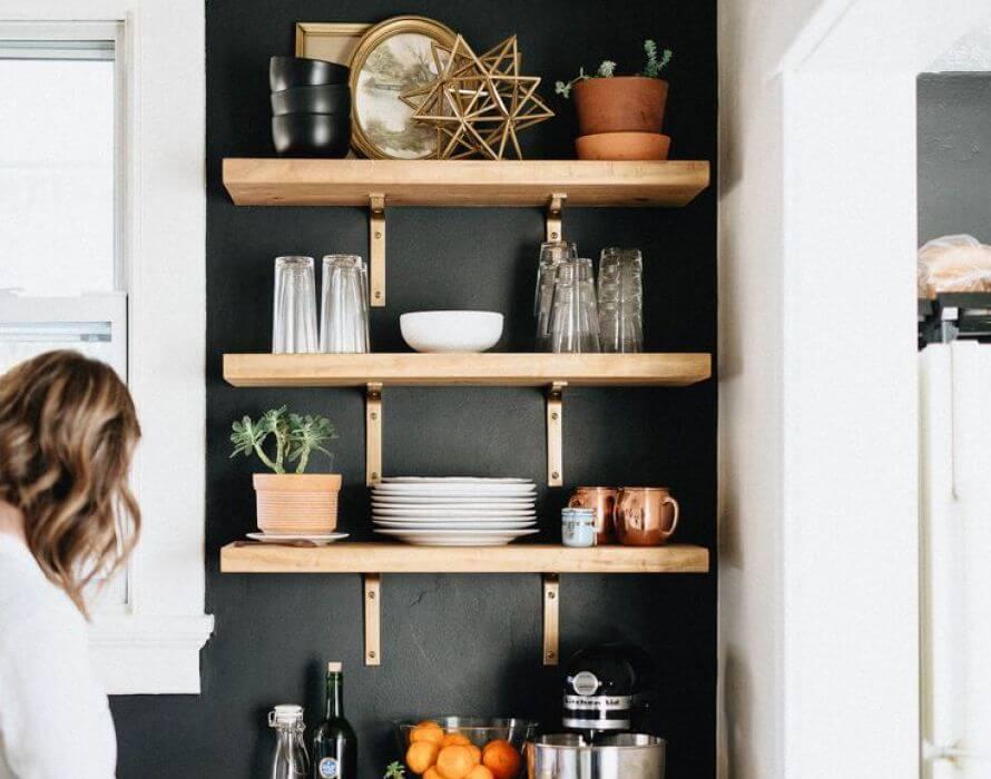 prateleiras de cozinha