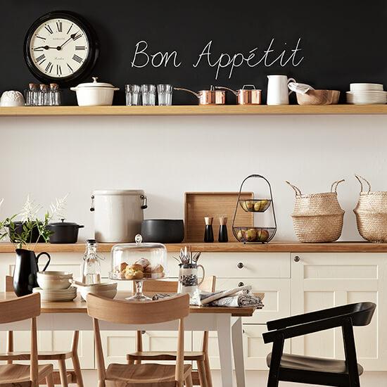 cozinha organizada e decorada