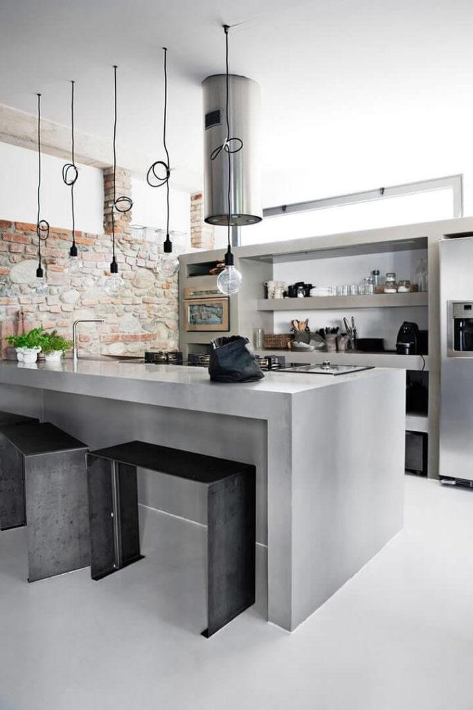 Cozinha com decoração econômica